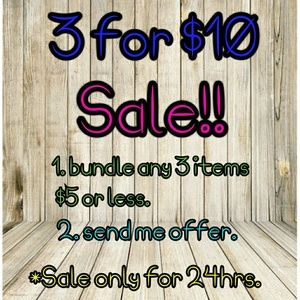 Other - 3 for $10 Sale